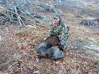 Click image for larger version.  Name:Trevor with his 2015 turkey.jpg Views:272 Size:313.2 KB ID:11604